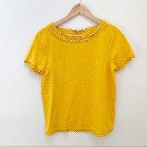 Anthro Boden yellow marigold Thelma blouse size 8